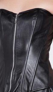 ⚡Black Leather Corset